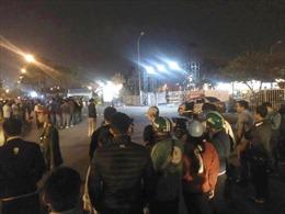 Lái xe taxi bị cứa cổ, cướp tài sản ở cổng phụ của sân vận động Mỹ Đình