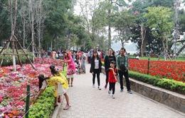 Trang trí tạo điểm nhấn các tuyến phố, công viên Hà Nội dịp Tết Nguyên đán