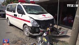 Tài xế xe cứu thương ngủ gật, gây tai nạn nghiêm trọng