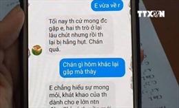Thái Bình làm rõ thông tin thầy giáo nhắn tin quấy rối nữ sinh