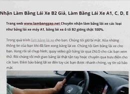 Nhức nhối tình trạng mua bán, sử dụng giấy phép lái xe giả
