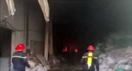 Cháy trong khu công nghiệp Sóng Thần 2