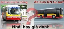 Nhập nhằng xe buýt 'nhái' với xe khách hợp đồng