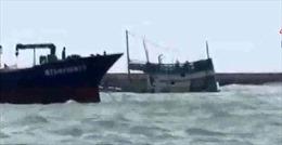 Nguy cơ tràn dầu từ tàu chìm tại đảo Phú Quý đã được kiểm soát