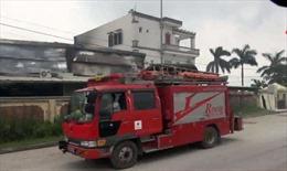 Cháy lớn ở cụm công nghiệp Ba Hàng, Hải Dương