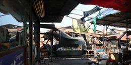 Cháy lớn trong đêm thiêu rụi 30 ki-ốt tại chợ Phước Long, Bình Phước