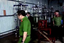 Triệt phá dường dây sản xuất ma túy do người Trung Quốc cầm đầu