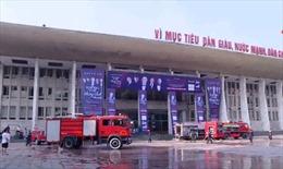 Cháy lớn ở cung Hữu nghị Việt - Xô