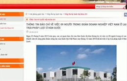 9 người trong đoàn doanh nghiệp Việt Nam ở lại Hàn Quốc trái pháp luật