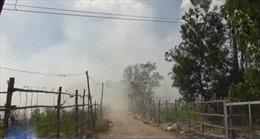 Cháy bãi rác gây ô nhiễm nghiêm trọng tại Khánh Hòa