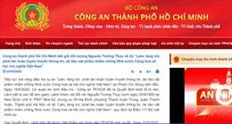 Bắt giữ đối tượng Nguyễn Tường Thụy có hành vi chống Nhà nước
