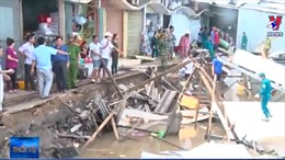 Sạt lở đất nghiêm trọng tại Cà Mau