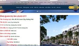 Cò đất 'rao bán' giai đoạn 2, chủ đầu tư Louis City Hoàng Mai bất ngờ