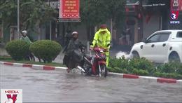 Mưa lớn gây ngập úng tại thành phố Thái Nguyên