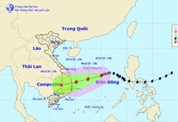 Bão số 10 hướng vào đất liền khu vực Quảng Ngãi đến Khánh Hòa