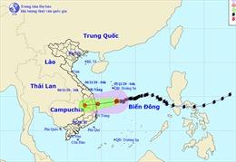 Bão số 10 gây mưa rất to từ Quảng Nam đến Bình Định