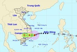 Bão số 12 đổ bộ vào các tỉnh Bình Định đến Ninh Thuận gây mưa to, gió lớn