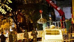Quả bom còn nguyên ngòi nổ được di dời thành công khỏi phố Cửa Bắc