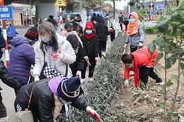 Hàng trăm Phật tử tình nguyện nhặt rác làm sạch môi trường
