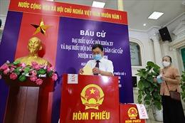 Quận Hoàn Kiếm diễn tập phương án phòng chống dịch COVID-19 phục vụ bầu cử