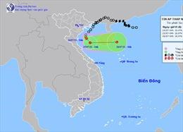 Áp thấp nhiệt đới khẩn cấp trên biển