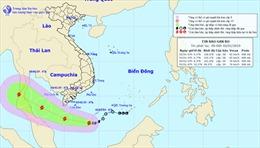 Bão giật cấp 10 cách mũi Cà Mau hơn 300 km, biển động mạnh