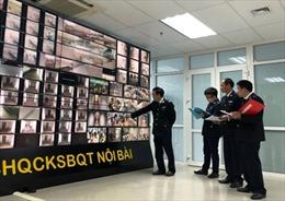 Hải quan sân bay Nội Bài tăng cường giám sát camera dịp Tết