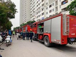 Cháy tầng 32 chung cư HH2C Linh Đàm