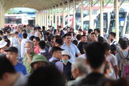 Bến xe đông nghịt người dân rời Thủ đô về quê nghỉ lễ 2/9