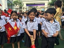 Những khoảnh khắc đáng nhớ trong ngày khai trường của học sinh lớp 1
