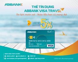 Hoàn tiền tới 5% khi khách hàng mua sắm thẻ ABBANK Visa Travel