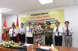 Cục Phòng chống rửa tiền đón nhận bằng khen của Bộ trưởng Bộ Công an