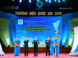 Saigontourist được công nhận là Thương hiệu Quốc gia