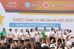 Manulife Việt Nam tham gia 'Cuộc chạy vì trẻ em Hà Nội 2018'
