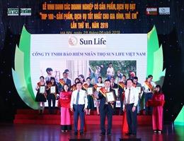 Sun Life Việt Nam – Top 100 sản phẩm tốt nhất cho gia đình và trẻ em
