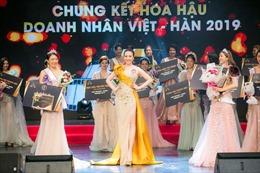 Nguyễn Thị Thu Hiền giành vương miện Hoa hậu doanh nhân Việt - Hàn 2019