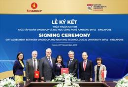 Vingroup tài trợ 5 triệu Đô la Singapore cấp học bổng cho thạc sĩ, tiến sĩ người Việt tại ĐH Công nghệ Nanyang