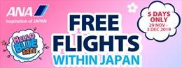 ANA ưu đãi các chuyến bay nội địa miễn phí