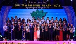 Quỹ Tâm Tài Nghệ An thông báo xét thưởng lần thứ 4