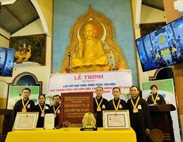 Trao chứng nhận 'Không gian Văn hóa tâm linh' cho Thiền tông Tân Diệu