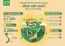 Nestlé Milo sử dụng ống hút giấy bảo vệ môi trường