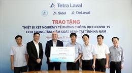 Tập đoàn Tetra Laval trao tặng thiết bị xét nghiệm y tế phòng, chống dịch COVID-19