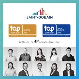 """Năm thứ sáu Saint-Gobain là """"Nhà Tuyển Dụng Hàng Đầu Thế Giới"""""""