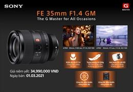 Sony Electronics ra mắt ống kính FE 35mm F1.4 GM