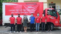 J&T Express hỗ trợ nông dân Bắc Giang tiêu thụ vải thiều