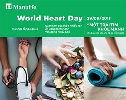 Manulife cùng Hiệp hội Tim mạch Thế giới nâng cao nhận thức chăm sóc sức khỏe tim mạch