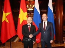 Tổng Bí thư Nguyễn Phú Trọng hội kiến Thủ tướng Nga, Chủ tịch Đảng nước Nga thống nhất