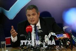 Bộ trưởng Quốc phòng Hy Lạp phản đối thỏa thuận với Macedonia