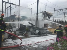 Cháy trạm biến áp 110KV Võ Cường, Bắc Ninh mất điện diện rộng
