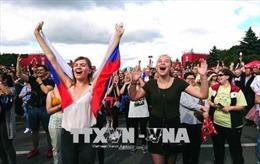 Dừng bước tại tứ kết, đội tuyển Nga được đón chào như những nhà vô địch